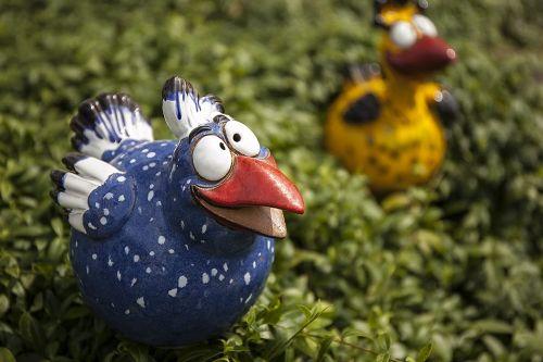 Garden Decoration Handmade Colorful Bird