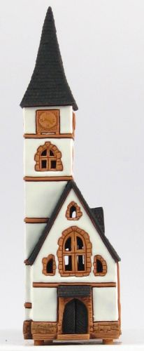 Ceramic Tealight Candle Holder | Room Decoration | Collectible miniature of Old Church, Europe | C207AR* © Midene