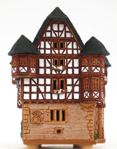 Ceramic Tealight Candle Holder | Room Decoration | Collectible miniature of New Castle in Giessen, Germany | C239N © Midene
