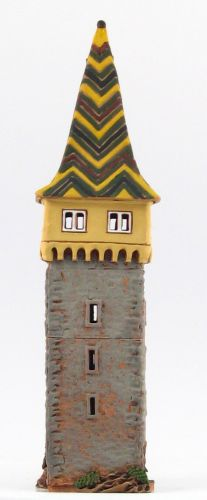 Ceramic Tealight Candle Holder | Room Decoration | Collectible miniature of Historical Mangtum Tower in Lindau, Germany | C258N © Midene