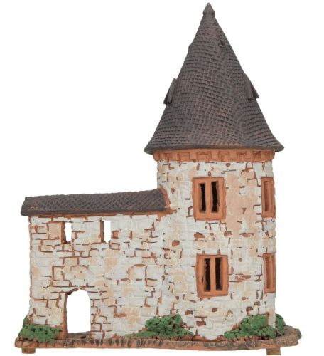 Ceramic Tealight Candle Holder | Room Decoration | Collectible miniature of Hirsch Tower in Zell, Germany | C270N © Midene