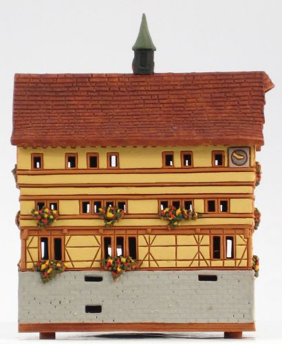 Ceramic Tealight Candle Holder | Room Decoration | Collectible miniature of Old Town Hall in Tübingen, Germany | C283N © Midene