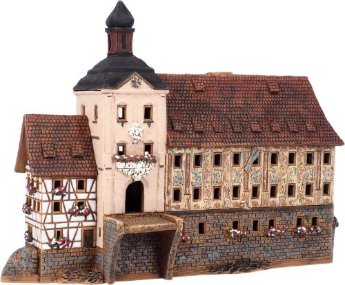 Ceramic Tealight Candle Holder | Room Decoration | Collectible miniature of Town hall in Bamberg, Germany | C323AR* © Midene