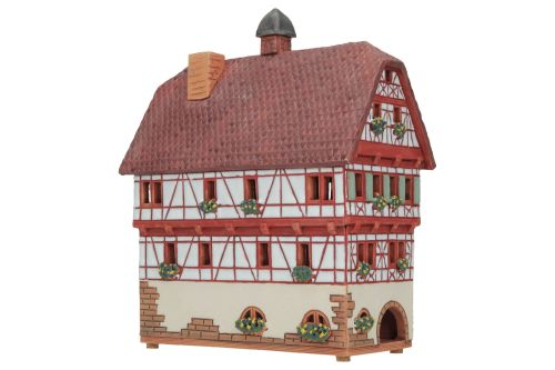 Ceramic Tealight Candle Holder   Room Decoration   Collectible miniature of Steinheim Town Hall Germany   D242AR* © Midene