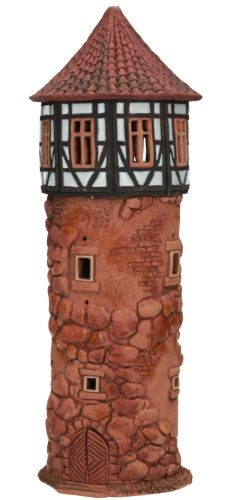 Ceramic Tealight Candle Holder | Room Decoration | Collectible miniature of Light tower, Lauterbach, Germany | D29N © Midene