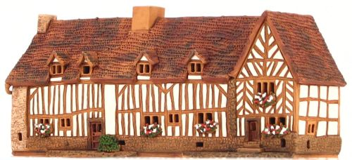 Ceramic Tealight Candle Holder | Room Decoration | Collectible miniature of Stratford-upon Avon, Palmer's Farm, GB | D328AR* © Midene