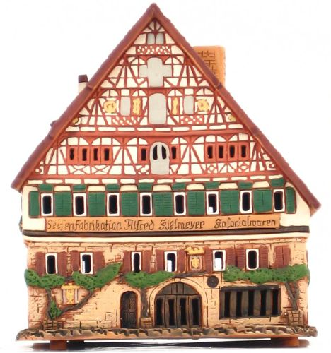 Ceramic Tealight Candle Holder | Room Decoration | Collectible miniature of Kielmayer house, Esslingen, Germany | D337AR* © Midene