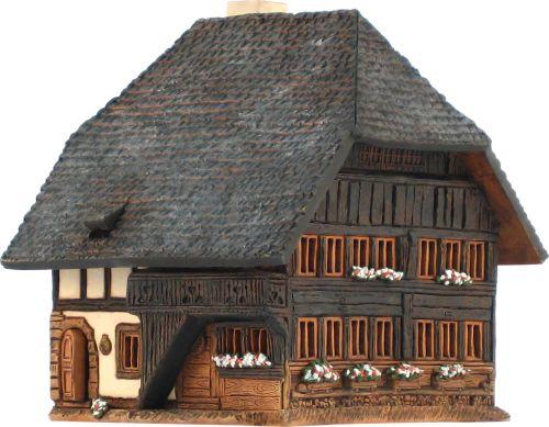 Ceramic Tealight Candle Holder | Room Decoration | Collectible miniature of Küherstock / house, Emmental, Germany | D381AR* © Midene