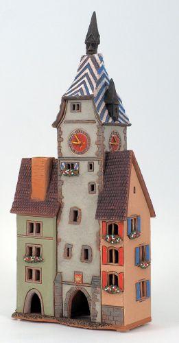 Ceramic Tealight Candle Holder   Room Decoration   Collectible miniature of Zyturm in Zug, Schweiz, CH   D391AR* © Midene