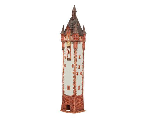 Ceramic Tealight Candle Holder | Room Decoration | Collectible miniature of Lange Franz Tower, Frankfurt, Germany | D395N © Midene