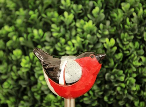 Ceramic decoration for garden Bullfinch bird | Outdoor Figurine | GK607-1 © Midene