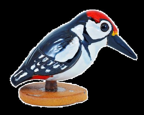 Ceramic decoration for garden Woodpecker   Outdoor Figurine   GK612 © Midene