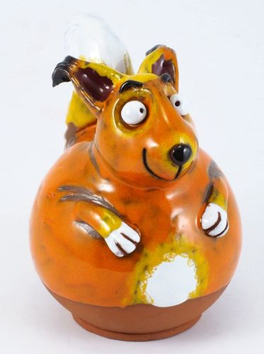 Squirrel Garden Decoration  Handmade Ceramic