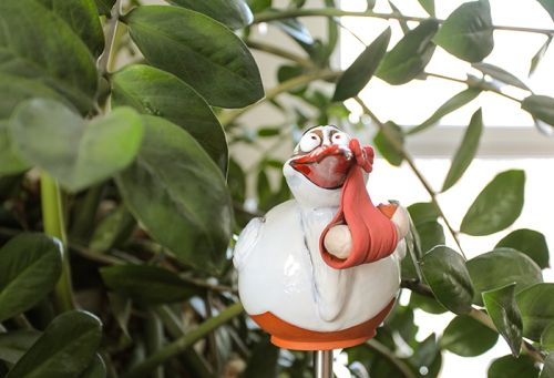Stork with baby garden decoration GKR37P