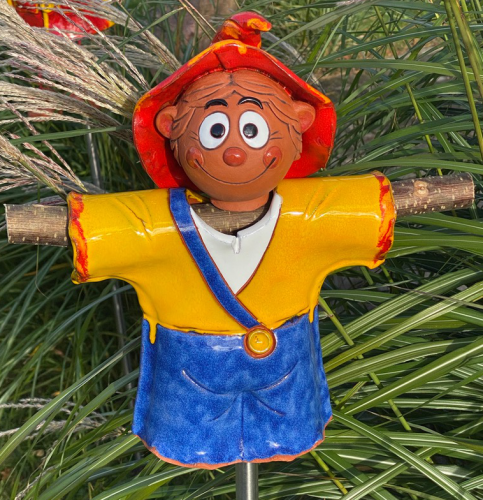 Ceramic decoration for garden Scarecrow Baby | Outdoor Figurine | GKW43 Y+SST1.2 © Midene