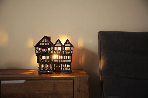 Ceramic Tealight Candle Holder | Room Decoration |Oxford New Inn House UK | F236AR* © Midene