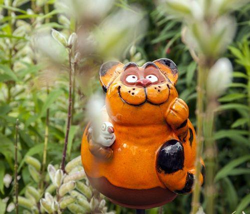 Ceramic garden decoration Friendly cat