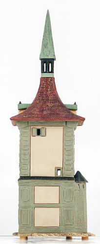 Ceramic Tealight Candle Holder | Room Decoration | Collectible miniature of Zytglogge | Clock Tower Bern  Switzerland | E246N* © Midene