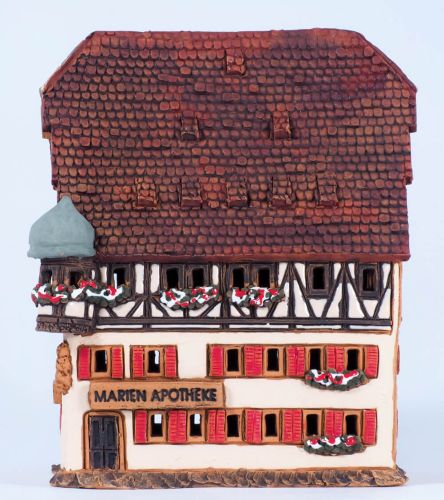 Marien-pharmacy in Rothenburg, Germany (Candle holder) A233AR 13cm