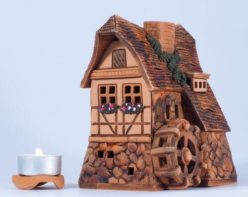 Midene Ceramic Tea Light House Candle Holder. Baker's mill B224AR