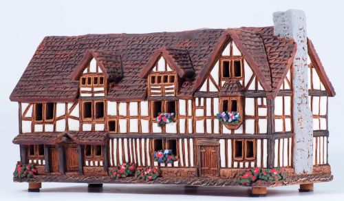 W. Shakespeare's birth house in Stratford, UK (Candle house) D329AR