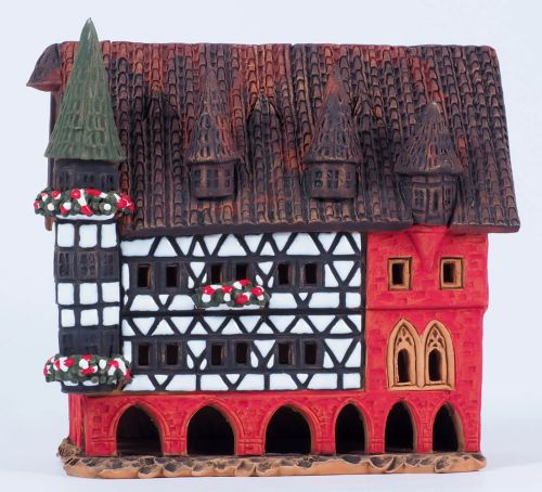 Town hall in Fulda, Germany (Candle holder) A210N 14cm