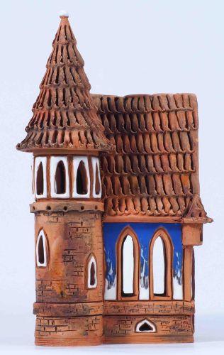 Midene Ceramic s Candle Holder House Handmade B73N Small Size