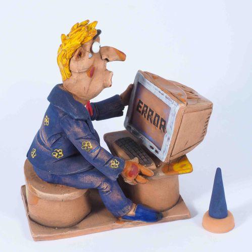 Crazy Hacker Incense Holder | Figurine | Home Decor | RF40 © Midene