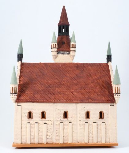 Ceramic Tealight Candle Holder | Room Decoration | Collectible miniature of München town hall Germany | F232N* © Midene