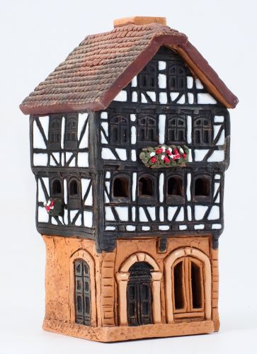 Incense Burners Historic Houses in Lauterbach Street S19 Set