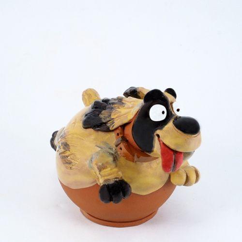 Ceramic garden decoration Lucky dog