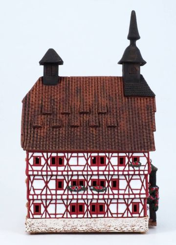 Ceramic Tealight Candle Holder | Room Decoration | Collectible miniature of Besigheim Town Hall Germany | D243AR* © Midene