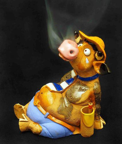 Bull in summer (Incense burner) RF81