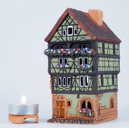 Midene Handmade Ceramic Aroma Candle House Art Studio House in Colmar, France A249AR-G
