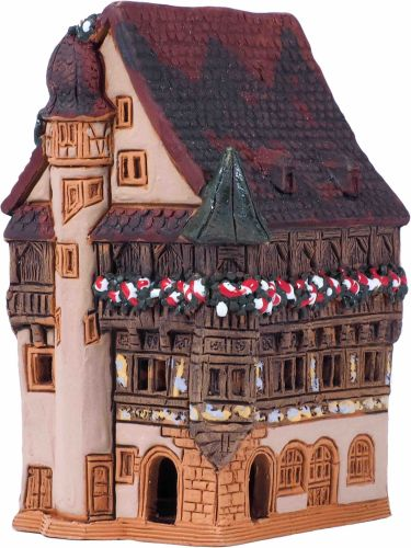 Incense Holder House in Colmar. Clay, Room Decor, Miniatures R256