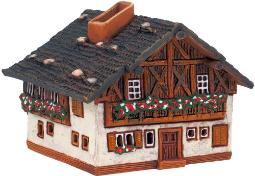 Ceramic Cone Incense Holder   Room Decoration   Collectible miniature of the original Wooden House in the Alps, Germany   R280 © Midene