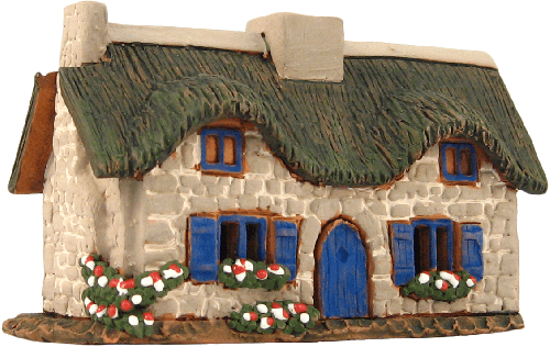 Ceramic Cone Incense Holder   Room Decoration   Collectible miniature of the original Old House in Bretagne, France   R296 © Midene