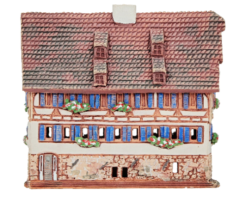 Ceramic Cone Incense Holder | Room Decoration | Collectible miniature of the original Timbered House in Esslingen, Germany | R374 © Midene