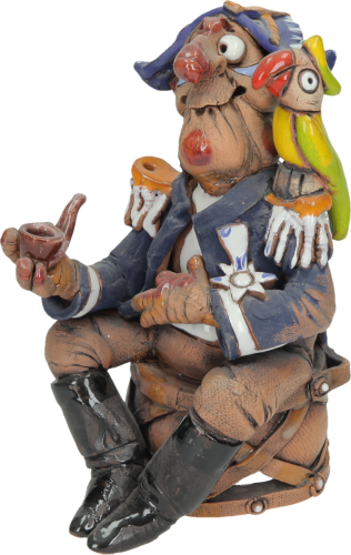 Pirate and Parrot Incense Holder | Figurine | Home Decor | RF154 © Midene