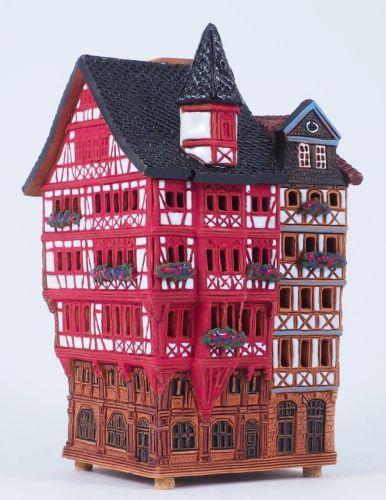 Ceramic houses incense burners 'Street in Frankfurt