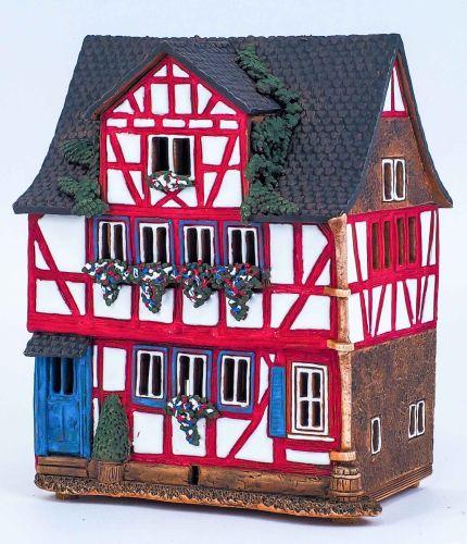 Ceramic Houses Tea Light Holders 'Street in Lauterbach' (6pcs) 22 cm
