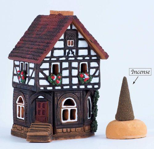 Midene Ceramic House Tea Light Holder 'House in Lauterbach'