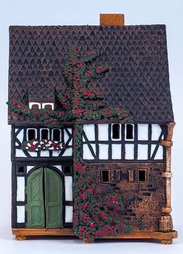 Midene Ceramic House Tea Light Holder 'House in Lauterbach' 18 cm