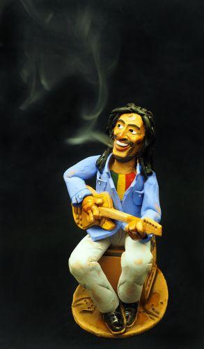 Bluesman Incense Holder | Figurine | Home Decor | RF69 © Midene