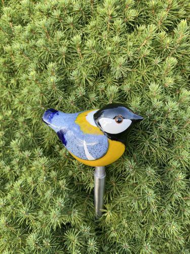 Ceramic decoration for garden Bullfinch bird | Outdoor Figurine | GK607-2 © Midene