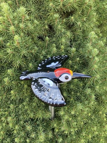 Ceramic decoration for garden Woodpecker Bird | Outdoor Figurine | GK604-2 © Midene